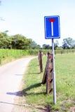 Extremidade da estrada Imagens de Stock Royalty Free
