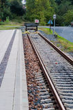 Extremidade da estrada de ferro Imagens de Stock Royalty Free