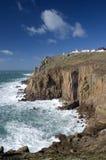 Extremidade da terra, Cornualha. Inglaterra Foto de Stock Royalty Free