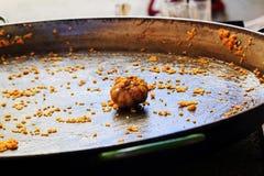 A extremidade de um paella Imagem de Stock Royalty Free
