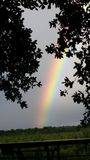 A extremidade do arco-íris fotos de stock royalty free