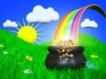 Extremidade do arco-íris Fotografia de Stock Royalty Free