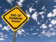 Extremidade do arco-íris adiante foto de stock