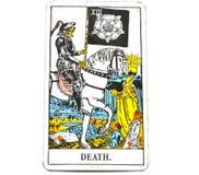 A extremidade do cartão de tarô da morte muda a transformação fotografia de stock royalty free