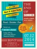 Extremidade do cartaz do partido do verão ou do molde do projeto de cartão Foto de Stock