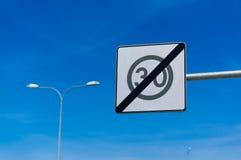 extremidade do limite de velocidade 30 Foto de Stock