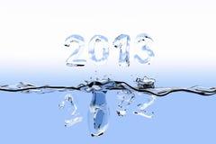 Extremidade do respingo 2012 do ano Fotografia de Stock Royalty Free