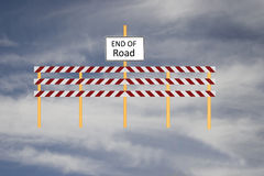 Extremidade do sinal de estrada Foto de Stock Royalty Free