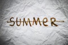 Extremidade do sinal do verão Imagens de Stock Royalty Free