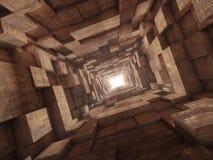 Extremidade do túnel Fotografia de Stock Royalty Free