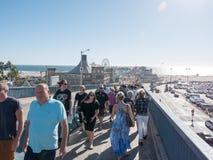 Extremidade famosa de Route 66 em Santa Monica Pier Imagens de Stock