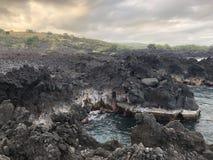 Extremidade grande da ilha do litoral de Havaí do mundo imagem de stock royalty free