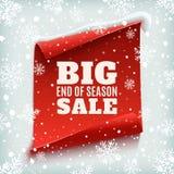 Extremidade grande do cartaz da venda da estação Fotografia de Stock