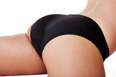 Extremidade magro da mulher tanned. Fotografia de Stock