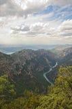 Extremidade ocidental de Desfiladeiro du Verdon Fotos de Stock Royalty Free