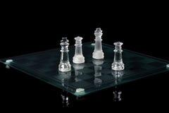 Extremidade próxima de jogo de xadrez Fotografia de Stock Royalty Free