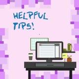 Extremidades útiles del texto de la escritura Concepto que significa los consejos dados para ser conocimiento útil en foto de la  libre illustration