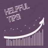 Extremidades útiles del texto de la escritura de la palabra Concepto del negocio para los consejos dados para ser conocimiento út ilustración del vector