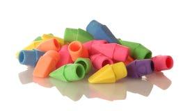 Extremidades coloridas do eliminador de lápis Fotos de Stock Royalty Free