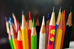 Extremidades del lápiz Fotos de archivo