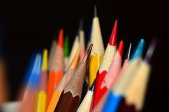 Extremidades del lápiz Foto de archivo libre de regalías