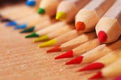 Extremidades del lápiz Fotografía de archivo