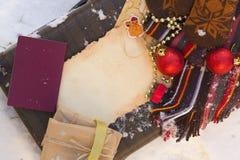 Extremidades del viaje de las vacaciones del invierno Imagen de archivo