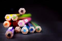 Extremidades do lápis Foto de Stock Royalty Free