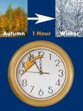 Extremidades do período do verão (tempo de economia de luz do dia) Foto de Stock Royalty Free