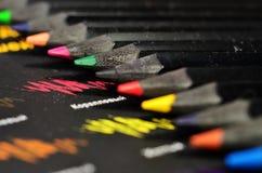 Extremidades negras del lápiz Imágenes de archivo libres de regalías