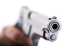 Zielen des Gewehrs Stockfotos