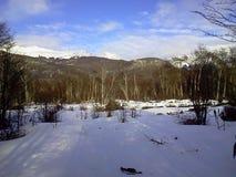 Extremo Argentina del mundo de la nieve Imágenes de archivo libres de regalías