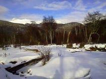 Extremo Argentina del mundo de la nieve Foto de archivo libre de regalías
