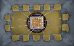 Extremo cercano para arriba de microprocesador del silicio Imagenes de archivo