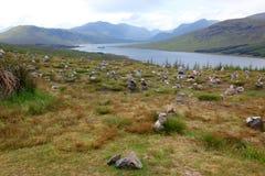 Extremo de Escocia del lago Shiel, Reino Unido fotografía de archivo