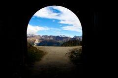 Extremo de un túnel Imagen de archivo libre de regalías