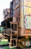 Extremo de viejo Rusty Train Car imágenes de archivo libres de regalías