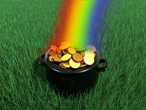 Extremo del arco iris Imágenes de archivo libres de regalías