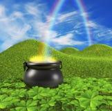 Extremo del arco iris Imagen de archivo libre de regalías
