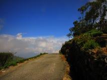 Extremo del camino en la montaña imágenes de archivo libres de regalías