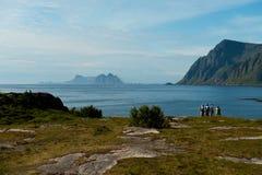 Extremo del camino en Lofoten Fotos de archivo libres de regalías