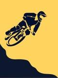 Extremo del corredor de la bicicleta ilustración del vector