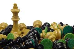 Extremo del juego de ajedrez Imágenes de archivo libres de regalías