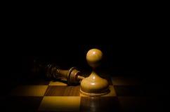 Extremo del juego de ajedrez Imagen de archivo
