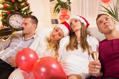 Extremo del partido del Año Nuevo Imágenes de archivo libres de regalías