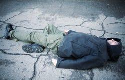 Extremo sin hogar foto de archivo