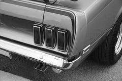 Extremo trasero 1969 del mustango imágenes de archivo libres de regalías
