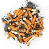 Extremos de cigarrillo Fotos de archivo libres de regalías