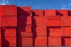 Extremos de la madera contrachapada Imagen de archivo