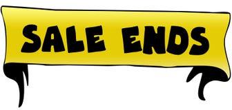 EXTREMOS de la VENTA en el ejemplo amarillo de la cinta libre illustration